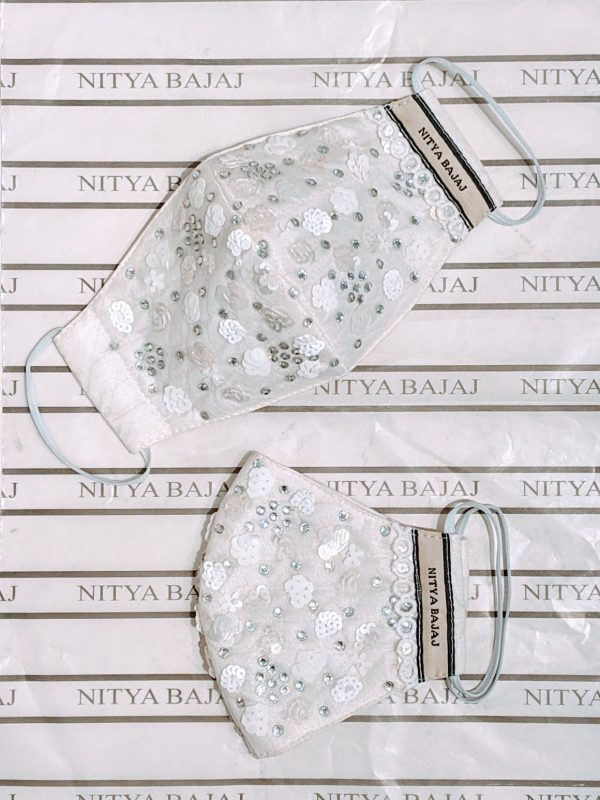 Sprinkle White Facemask