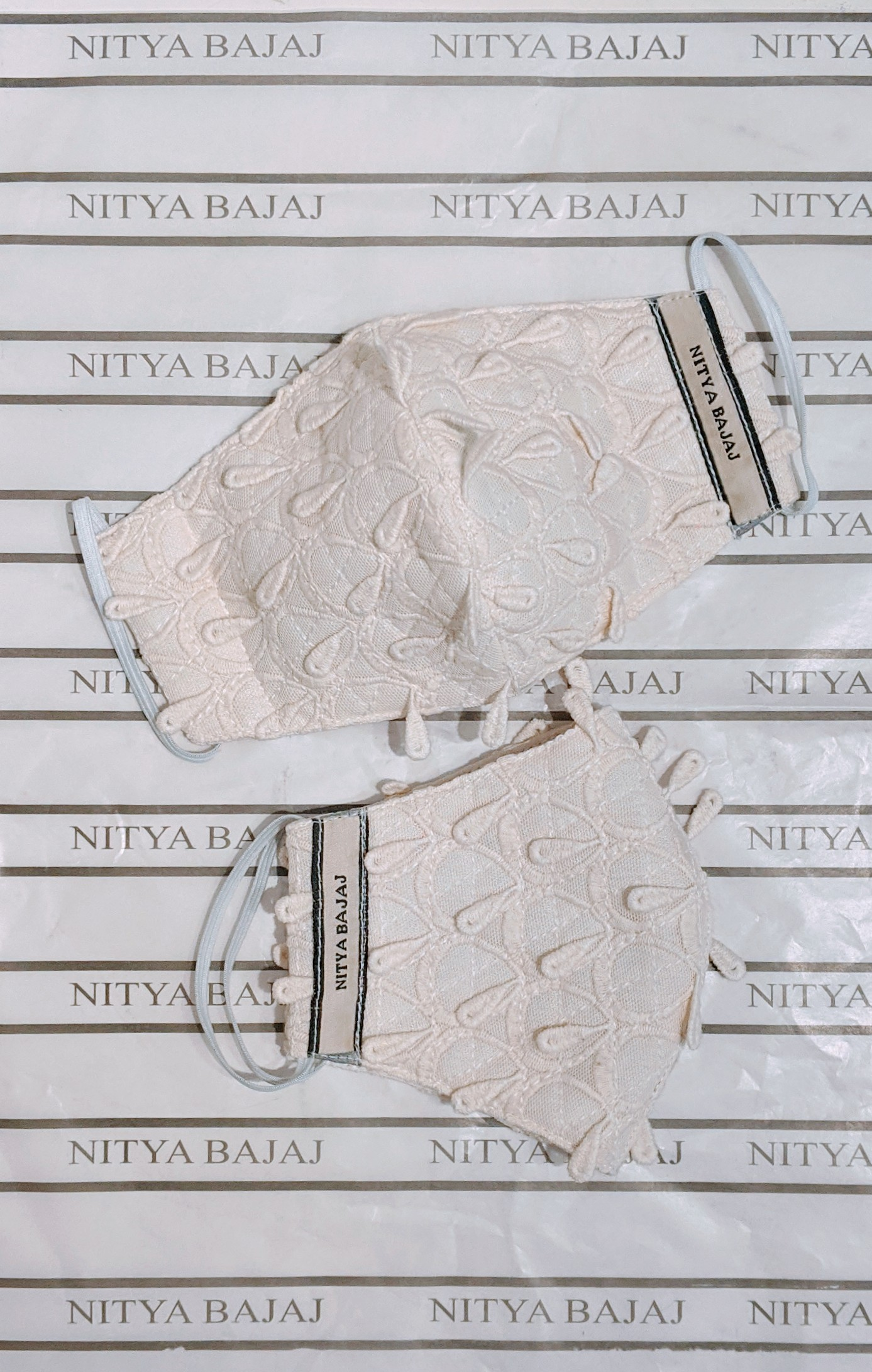 Ivory Lacework Facemask