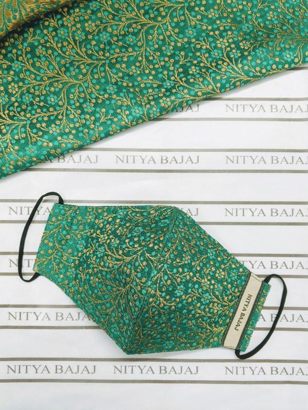 Rich woven Silk brocade facemask