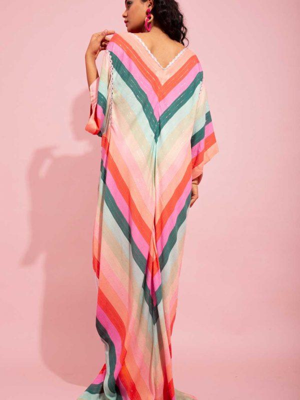 Candy Striped Kaftan