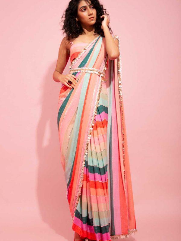 candy-striped-pant-saree