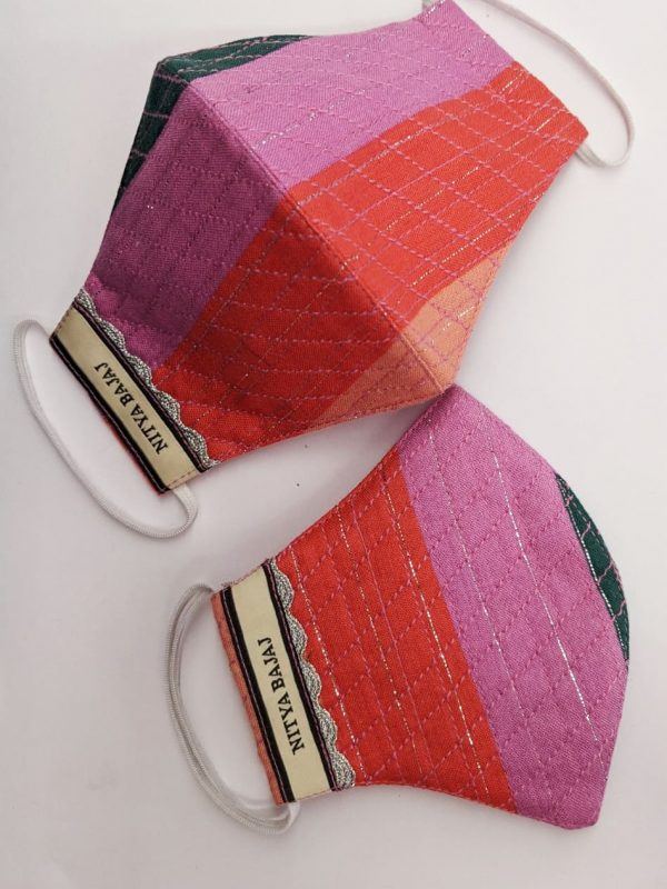 Candy multicolored striped facemasks